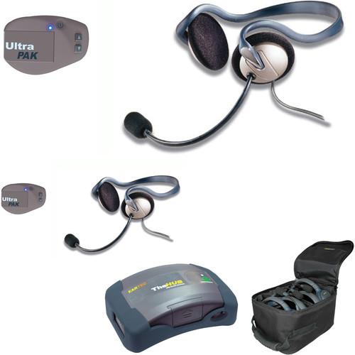 Eartec UPMON2 UltraPAK 2-Person HUB Intercom System with Monarch Headset