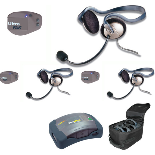 Eartec UPMON3 UltraPAK 3-Person HUB Intercom System with Monarch Headset