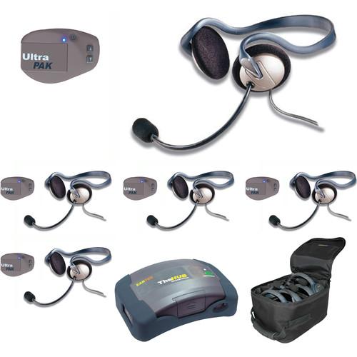 Eartec UPMON5 UltraPAK 5-Person HUB Intercom System with Monarch Headset