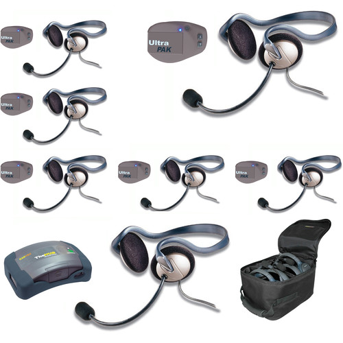 Eartec UPMON7 UltraPAK 7-Person HUB Intercom System with Monarch Headset