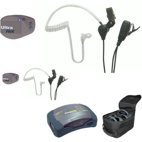 Eartec UPSST2 UltraPAK 2-Person HUB Intercom System with SST Headset