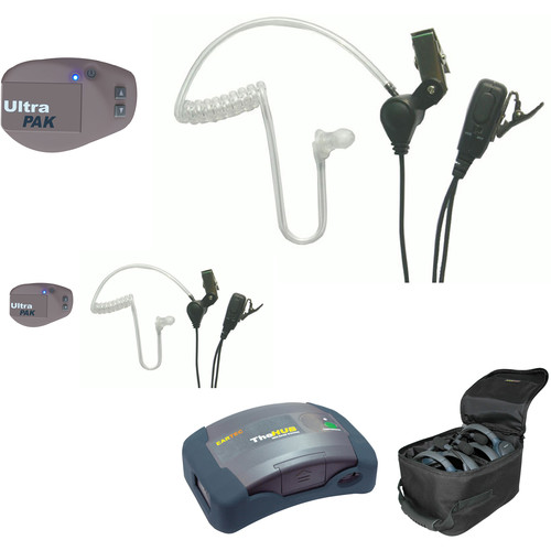 Eartec 1-Hub, 2- Ultrapak  2- SST Headsets with Batteries, Charger, Soft Sided Case