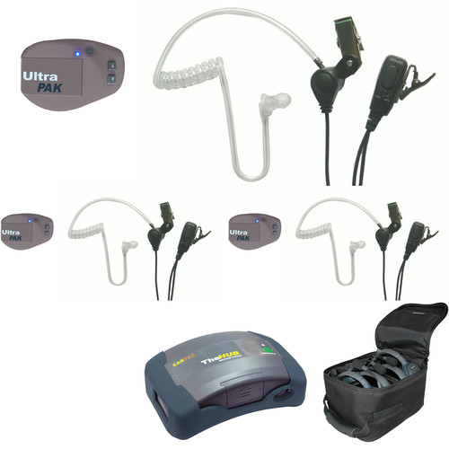 Eartec UPSST3 UltraPAK 3-Person HUB Intercom System with SST Headset