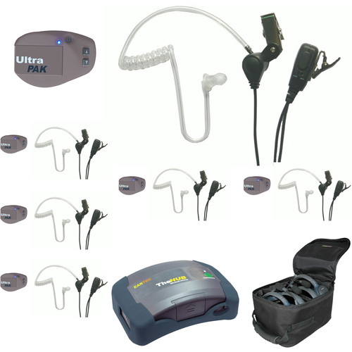 Eartec UPSST6 UltraPAK 6-Person HUB Intercom System with SST Headset