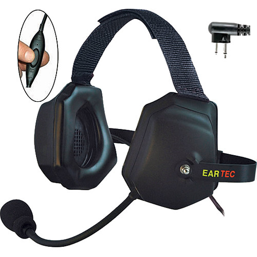 Eartec Xtreme Headset With Push-To-Talk Control for 2-Pin Motorola Radios