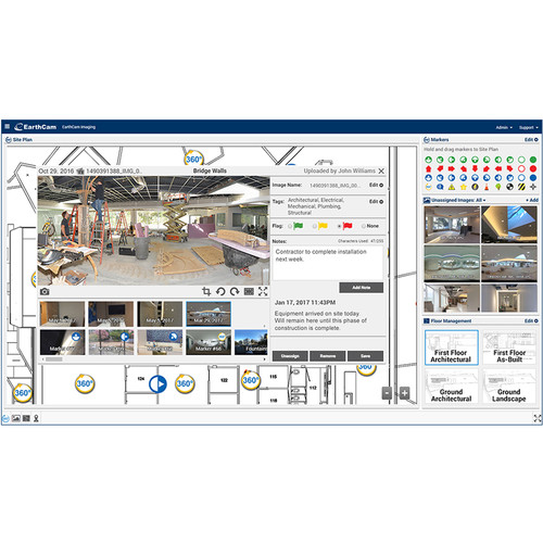 EarthCam Control Center 8 Photography Documentation Software (1-Month Subscription, Download)