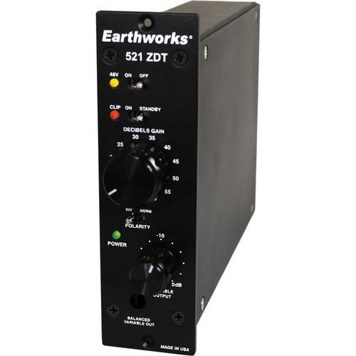 Earthworks 521 ZDT Single-Channel Mic Preamplifier for 500 Series Racks (1 RU Space)