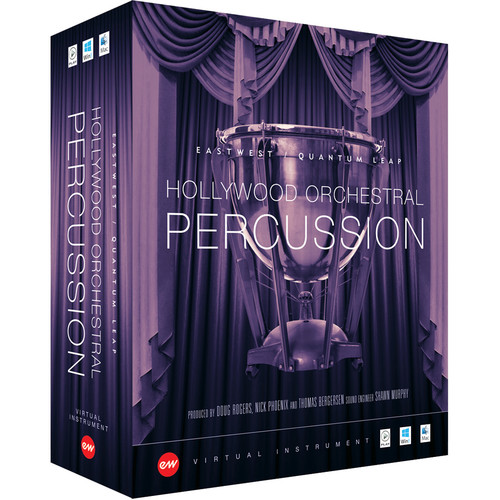 EastWest Hollywood Orchestral Percussion Silver Edition - Virtual Instrument (Educational, Download)