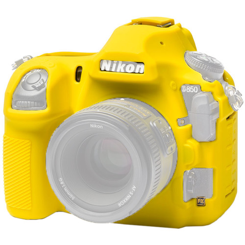 easyCover Silicone Protection Cover for Nikon D850 (Yellow)