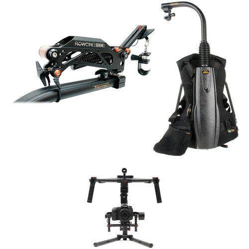 Easyrig Vario 5 with Gimbal Rig Vest and Flowcine Serene Kit with DJI Ronin-M