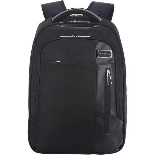"ECO STYLE Tech Exec Checkpoint Friendly Backpack for 15.6"" Laptop"