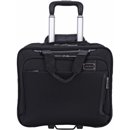 "ECO STYLE Tech Exec Rolling Case with iPad/Tablet Pocket for Up to 15.6"" Laptop"