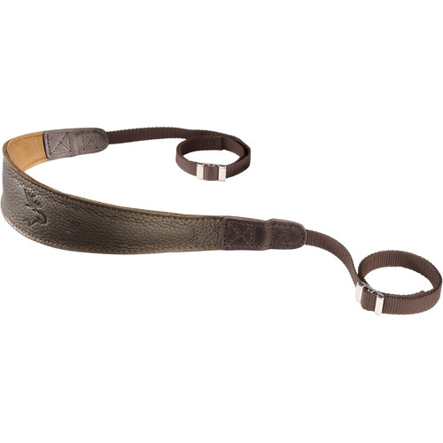 EDDYCAM Premium Camera Strap (Medium, Dark Green/Natural with Natural Stitching)