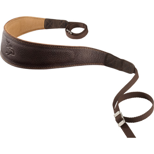 EDDYCAM Premium Camera Strap (Large, Dark Brown/Natural with Natural Stitching)