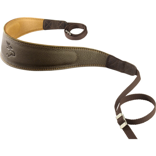 EDDYCAM Premium Camera Strap (Large, Dark Green/Natural with Natural Stitching)