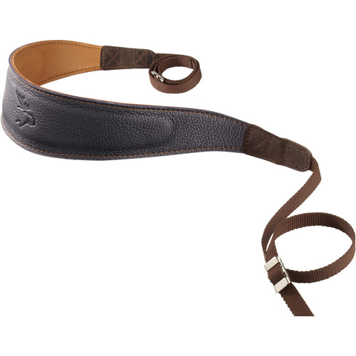 EDDYCAM Premium Camera Strap (Large, Dark Blue/Natural with Natural Stitching)