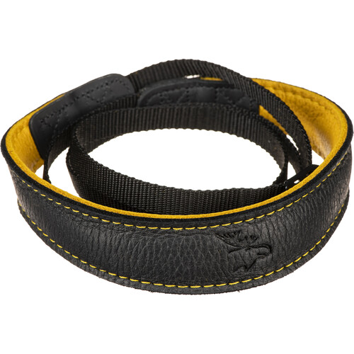 EDDYCAM Fashion -2- Camera Strap (Small, Black/Yellow with Yellow Stitching)