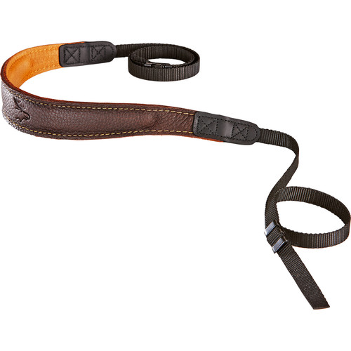 EDDYCAM Fashion -2- Camera Strap (Small, Brown/Natural with Natural Stitching)