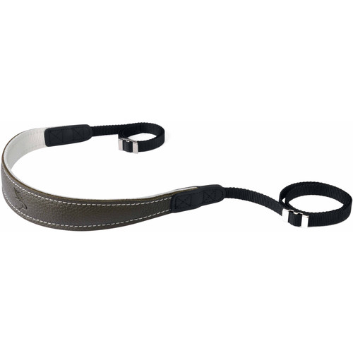 EDDYCAM Fashion -2- Camera Strap (Small, Dark Green/White with White Stitching)