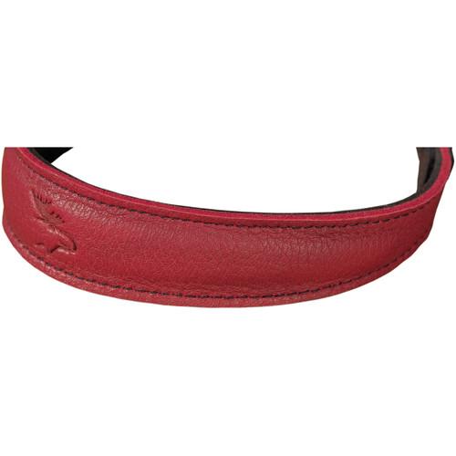 EDDYCAM Fashion -2- Camera Strap (Small, Red/Black with Black Stitching)
