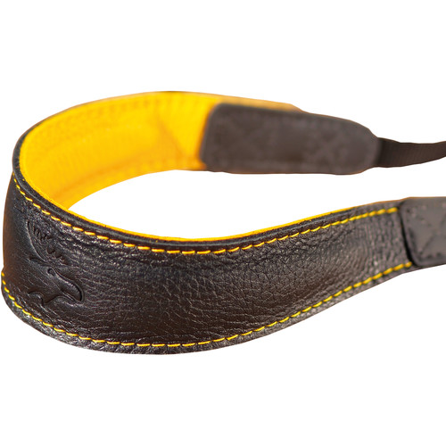 EDDYCAM Fashion -2- Camera Strap (Medium, Black/Yellow with Yellow Stitching)