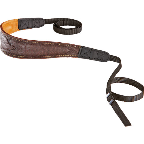 EDDYCAM Fashion -2- Camera Strap (Medium, Brown/Natural with Natural Stitching)