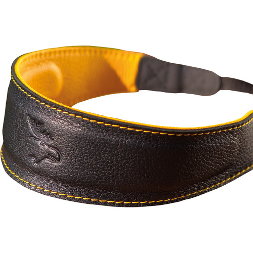 EDDYCAM Fashion -2- Camera Strap (Large, Black/Yellow with Yellow Stitching)