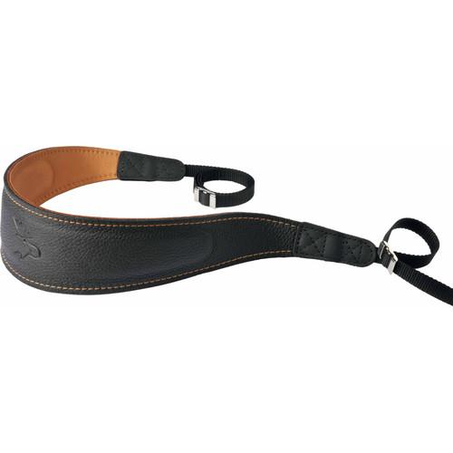 EDDYCAM Fashion -2- Camera Strap (Large, Black/Natural with Natural Stitching)