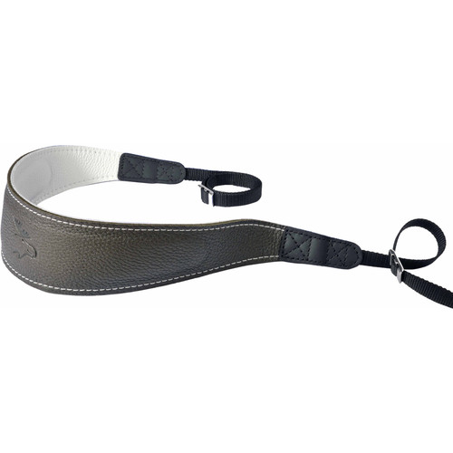EDDYCAM Fashion -2- Camera Strap (Large, Dark Green/White with White Stitching)