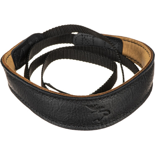 EDDYCAM Fashion -1- Camera Strap (Small, Black/Natural with Black Stitching)