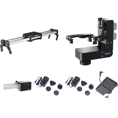 "edelkrone 25"" SliderPLUS PRO Long Bundle 12 with 2 x NP-F Brackets"