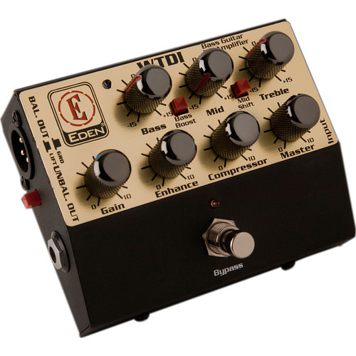 Eden Amplification WTDI Bass Guitar Preamp Direct Box with EQ and Compression