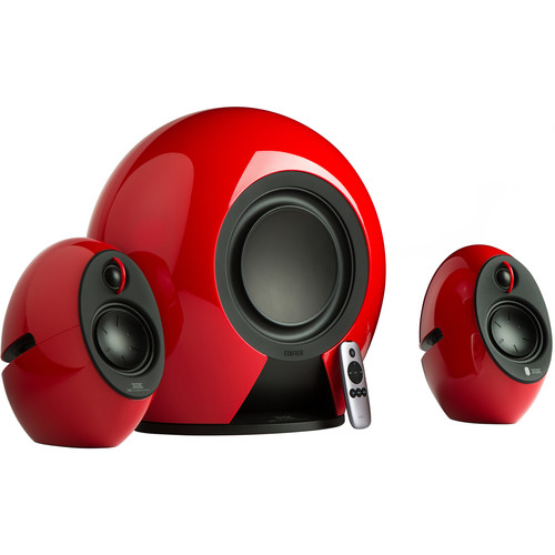 Edifier E235 2.1-Channel Bluetooth Speaker System with Wireless Subwoofer (Red)