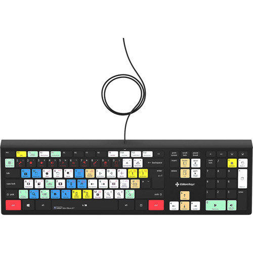 Editors Keys Adobe After Effects Backlit Keyboard (Windows)