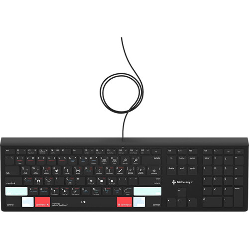 Editors Keys Adobe Audition Backlit Keyboard (Mac)