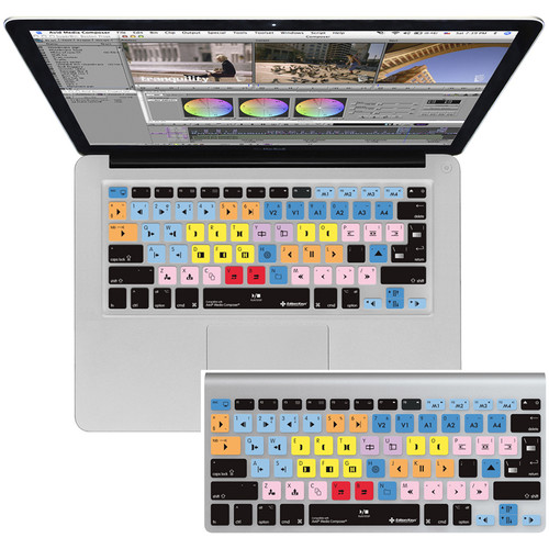 Editors Keys Avid Media Composer Keyboard Silicone Cover for MacBook, MacBook Air, & MacBook Pro