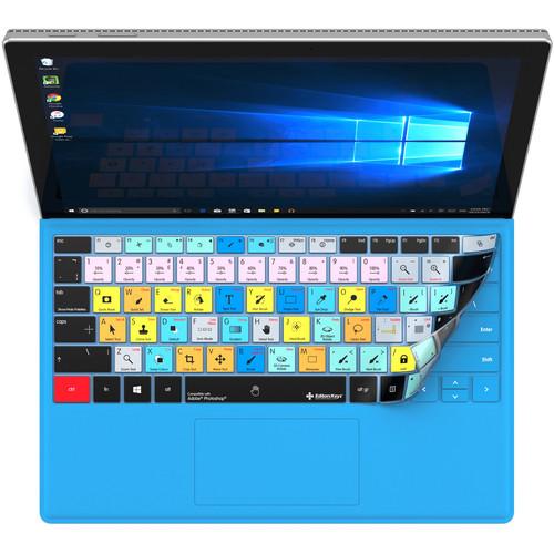 Editors Keys Adobe Photoshop Keyboard Cover for Microsoft Surface Pro 4