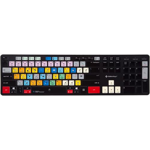 Editors Keys Adobe Photoshop Slimline Wireless Keyboard (Mac/Windows)