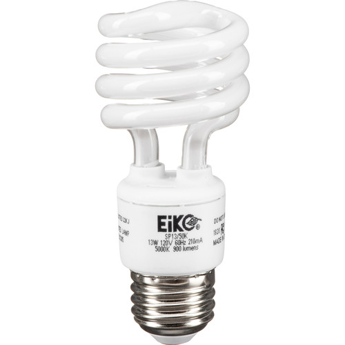 Eiko Spiral-Shaped Compact Fluorescent Lamp (13W, 120V)