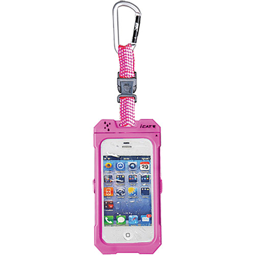 EK USA Dri Cat Hang it Waterproof Case with Carabiner Leash for iPhone 4/4S (Pink)
