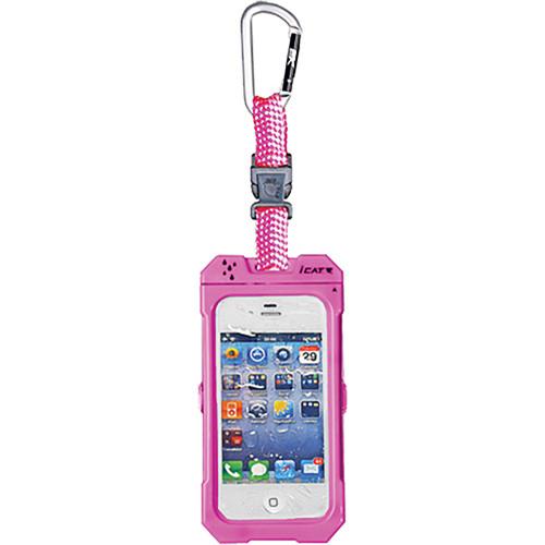 EK USA Dri Cat Hang it Waterproof Case with Carabiner Leash for iPhone 4/4S (Pink)