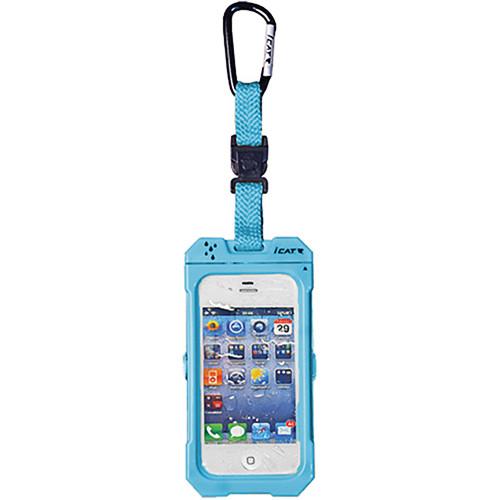 EK USA Dri Cat Hang it Waterproof Case with Carabiner Leash for iPhone 4/4S (Blue)