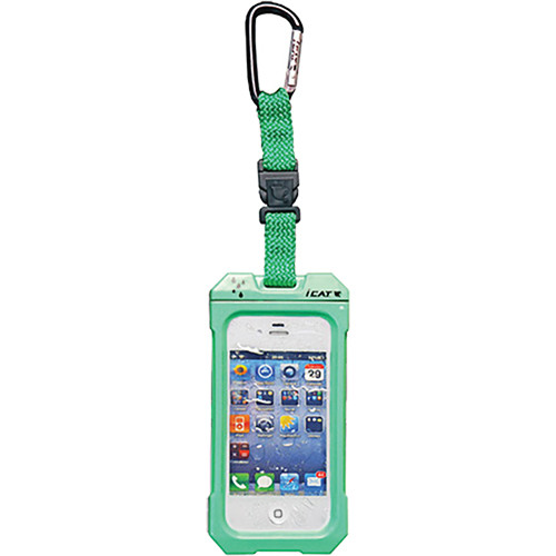 EK USA Dri Cat Hang it Waterproof Case with Carabiner Leash for iPhone 4/4S (Lime Green)