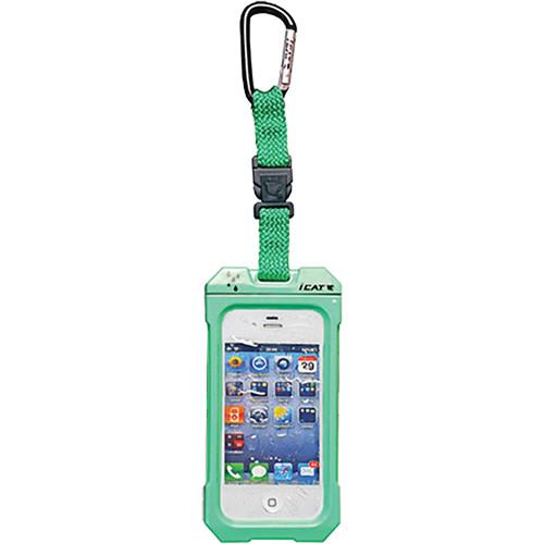 EK USA Dri Cat Hang it Waterproof Case with Carabiner Leash for iPhone 4/4S (Lime Green)
