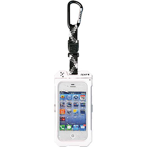 EK USA Dri Cat Hang it Waterproof Case with Carabiner Leash for iPhone 4/4S (White)
