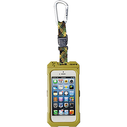 EK USA Dri Cat Hang it Waterproof Case with Carabiner Leash for iPhone 4/4S (Camouflage)