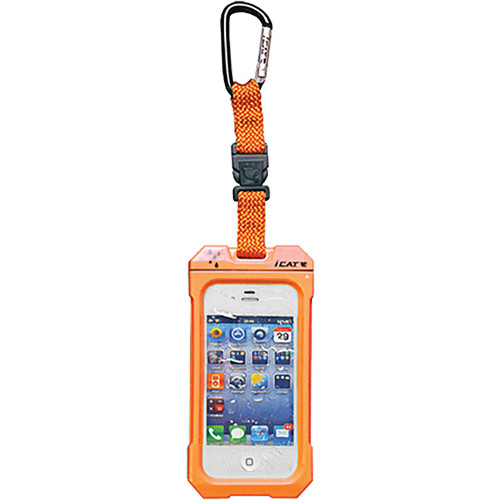 EK USA Dri Cat Hang it Waterproof Case with Carabiner Leash for iPhone 4/4S (Orange)