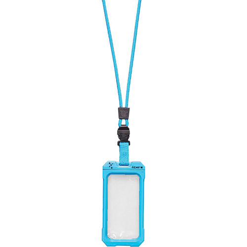 EK USA Dri Cat Neck it Waterproof Case with Lanyard for iPhone 4/4S (Turquoise Blue)