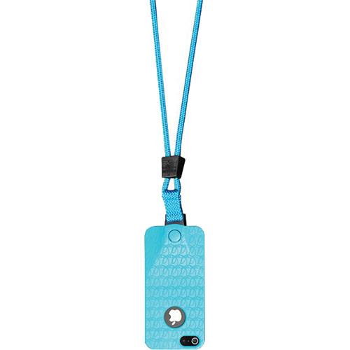 EK USA i5 Speak Easy Neck it Case with Lanyard for iPhone 5 (Turquoise Blue)