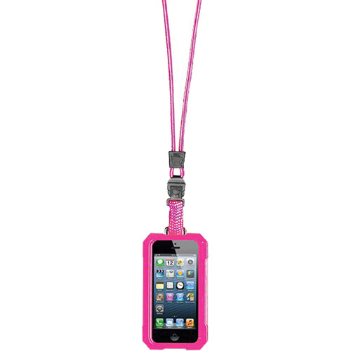 EK USA i5 Dri Cat Neck it Waterproof Case with Lanyard for iPhone 5 (Pink)